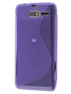 Wave Case for Motorola RAZR M 4G XT905 - Frosted Purple/Purple Soft Cover