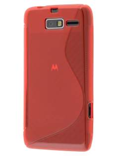 Motorola RAZR M 4G XT905 Wave Case - Frosted Red/Red Soft Cover