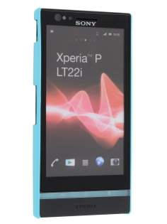 Vollter Sony Xperia P Ultra Slim Rubberised Case plus Screen Protector - Sky Blue