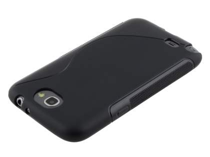 Samsung Galaxy Note 2 4G Wave Case - Frosted Black/Black