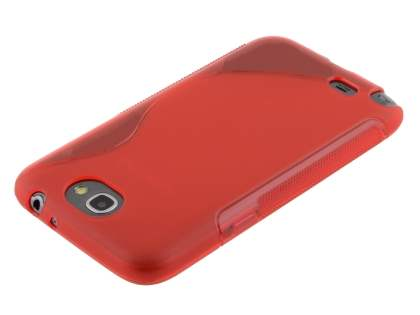 Samsung Galaxy Note 2 4G Wave Case - Frosted Red/Red