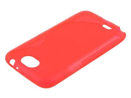 Wave Case for Samsung Galaxy Note 2 4G - Frosted Red/Red