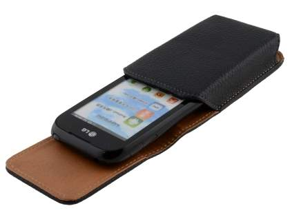 Textured Synthetic Leather Vertical Belt Pouch for LG P690 Optimus Spirit