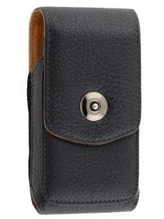 Textured Synthetic Leather Vertical Belt Pouch for LG P690 Optimus Spirit - Belt Pouch