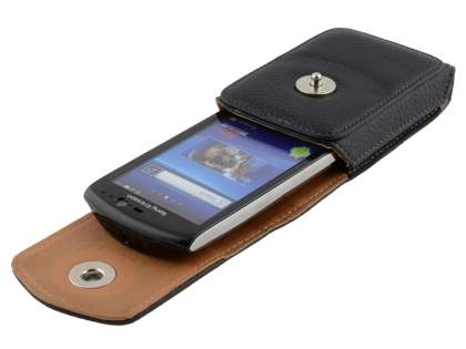 Textured Synthetic Leather Vertical Belt Pouch for Sony Ericsson Xperia NEO