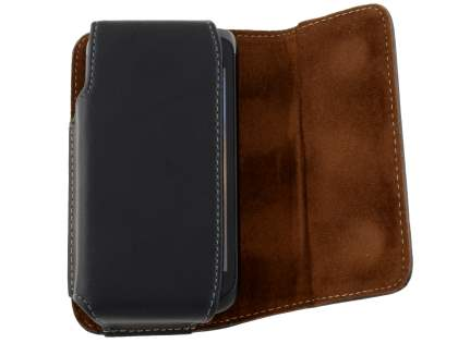 Extra-tough Genuine Leather ShineColours belt pouch for Samsung Galaxy W I8150