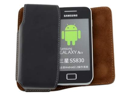 Extra-tough Genuine Leather ShineColours belt pouch for Samsung S5830 Galaxy Ace