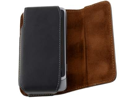 Extra-tough Genuine Leather ShineColours belt pouch for HTC Desire Z