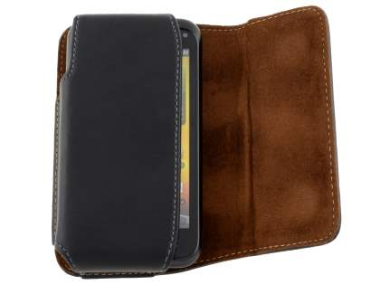 Extra-tough Genuine Leather ShineColours belt pouch for HTC Incredible S