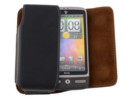 Extra-tough Genuine Leather ShineColours belt pouch for HTC Desire A8183