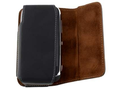 Extra-tough Genuine Leather ShineColours belt pouch for Nokia Lumia 610