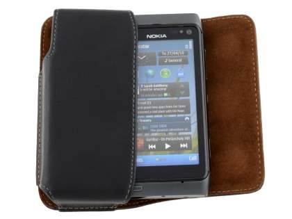 Extra-tough Genuine Leather ShineColours belt pouch for Nokia N8