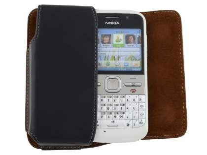 Extra-tough Genuine Leather ShineColours belt pouch for Nokia E5