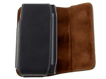Extra-tough Genuine Leather ShineColours belt pouch for Nokia X7