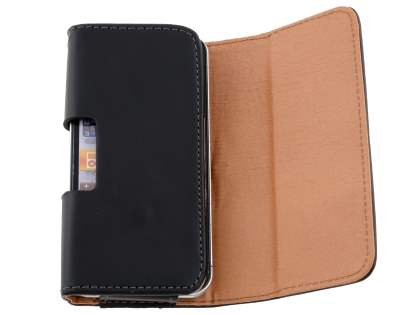 Smooth Synthetic Leather Belt Pouch (Bumper Case Compatible) for iPhone 4/4S