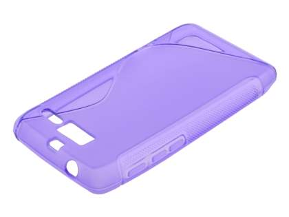 Motorola RAZR M 4G XT905 Wave Case - Frosted Purple/Purple