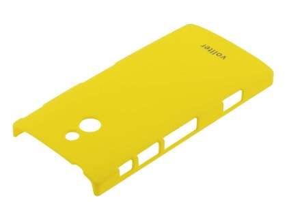 Vollter Sony Xperia P Ultra Slim Rubberised Case plus Screen Protector - Canary Yellow