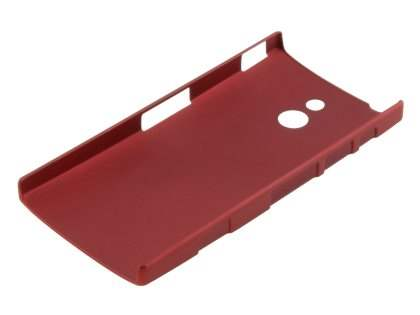 Vollter Sony Xperia P Ultra Slim Rubberised Case plus Screen Protector - Red