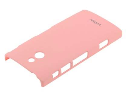 Vollter Sony Xperia P Ultra Slim Rubberised Case plus Screen Protector - Baby Pink