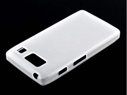 Motorola RAZR HD 4G XT925 TPU Gel Case - Frosted Clear