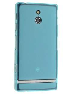 TPU Gel Case for Sony Xperia P LT22i - Sky Blue Soft Cover