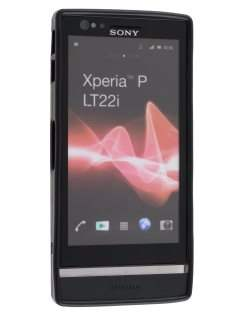 TPU Gel Case for Sony Xperia P LT22i - Classic Black