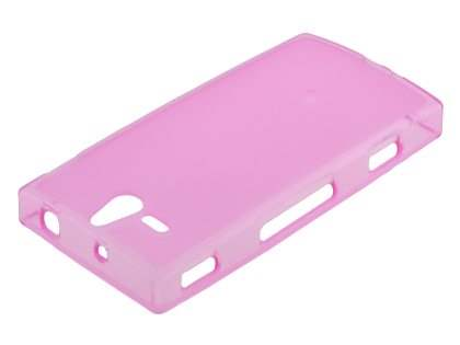 Sony Xperia U ST25i TPU Gel Case - Frosted Pink