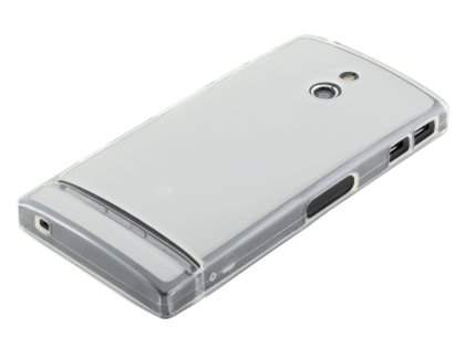 TPU Gel Case for Sony Xperia P LT22i - Frosted Clear