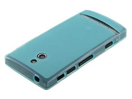 TPU Gel Case for Sony Xperia P LT22i - Sky Blue