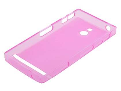 Sony Xperia P LT22i TPU Gel Case - Frosted Pink