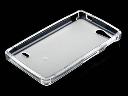 Sony Xperia go ST27i TPU Gel Case - Frosted Clear