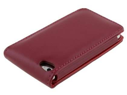 iPod Touch 4 Synthetic Leather Flip Case - Red