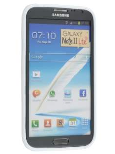 Samsung Galaxy Note 2 4G Frosted Colour TPU Gel Case - White
