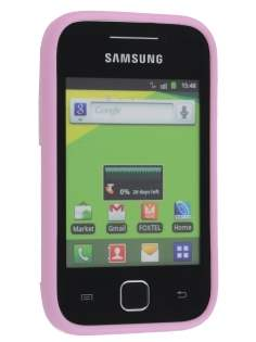 Samsung Galaxy Y S5360T Frosted Colour TPU Gel Case - Pink