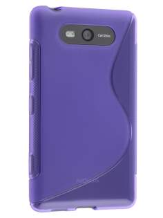 Wave Case for Nokia Lumia 820 - Frosted Purple/Purple Soft Cover