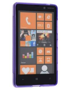 Nokia Lumia 820 Wave Case - Frosted Purple/Purple