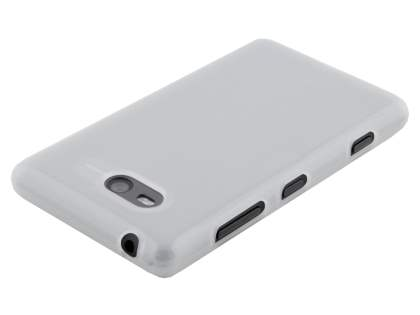 TPU Gel Case for Nokia Lumia 820 - Frosted Clear