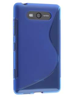 Wave Case for Nokia Lumia 820 - Frosted Blue/Blue Soft Cover