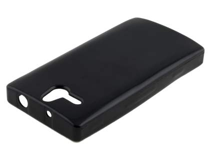 Frosted Colour TPU Gel Case for Sony Xperia U ST25i - Classic Black