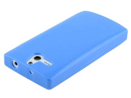 Sony Xperia U ST25i Frosted Colour TPU Gel Case - Blue
