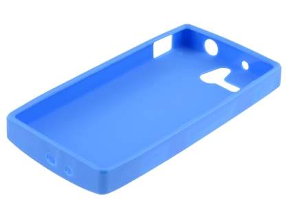 Frosted Colour TPU Gel Case for Sony Xperia U ST25i - Blue