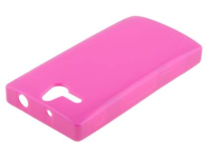 Frosted Colour TPU Gel Case for Sony Xperia U ST25i - Pink