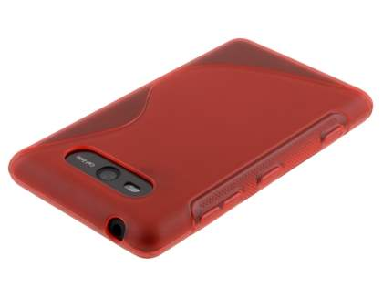 Nokia Lumia 820 Wave Case - Frosted Red/Red