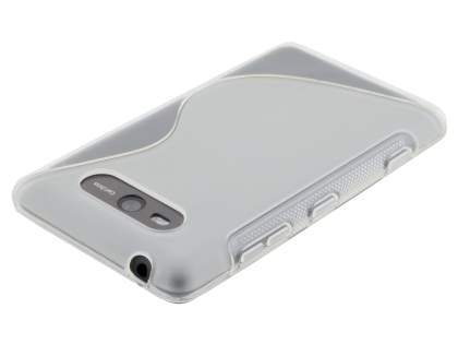Nokia Lumia 820 Wave Case - Frosted Clear/Clear