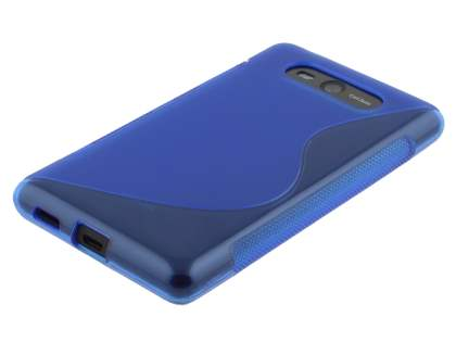 Wave Case for Nokia Lumia 820 - Frosted Blue/Blue