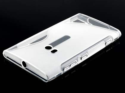 Wave Case for Nokia Lumia 920 - Frosted Clear/Clear
