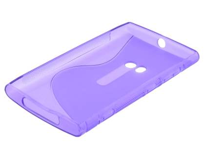 Nokia Lumia 920 Wave Case - Frosted Purple/Purple