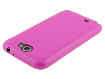 Frosted Colour TPU Gel Case for Samsung Galaxy Note 2 4G - Pink