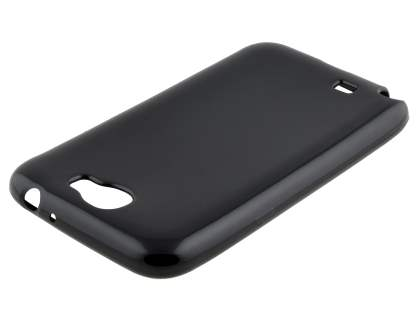 Frosted Colour TPU Gel Case for Samsung Galaxy Note 2 4G - Classic Black