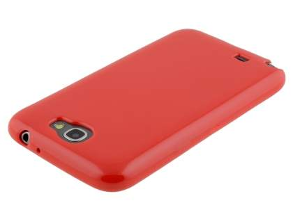 Samsung Galaxy Note 2 4G Frosted Colour TPU Gel Case - Red
